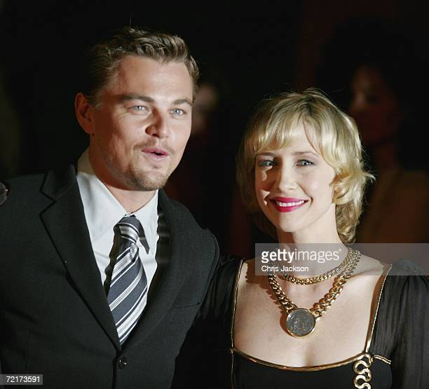 "Actors Leonardo DiCaprio and Vera Farmiga attend the premiere of the movie ""The Departed"" on the third day of Rome Film Festival on October 15, 2006..."