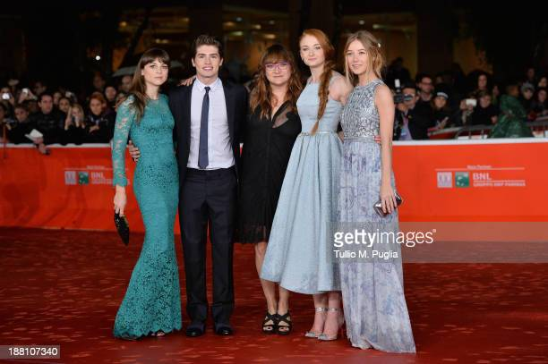 Actors Leonor Watling Gregg Sulki director Isabel Coixet actresses Sophie Turner and Charlotte Vega attend the 'Another Me' Premiere during The 8th...
