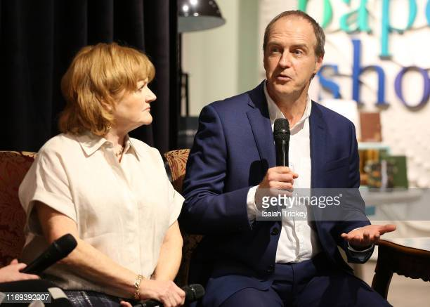 Actors Lesley Nicol and Kevin Doyle attend Indigo Presents Downton Abbey In Conversation and Experimental Event at Indigo Bay Bloor on September 18...