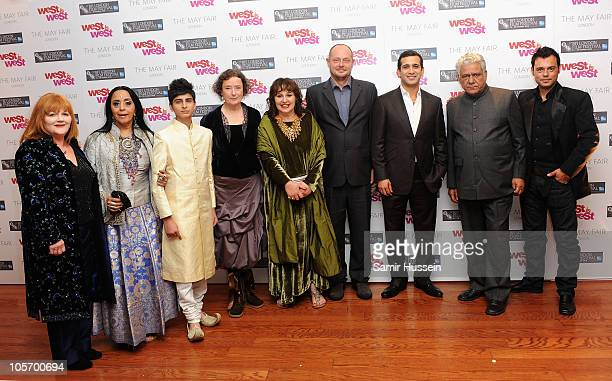 Actors Lesley Nicol Ila Arun Aqib Khan Linda Bassett Producer Lesley Udwin director Andy de Emmony and actors Jimi Mistry Om Puri and Emil Marwa...