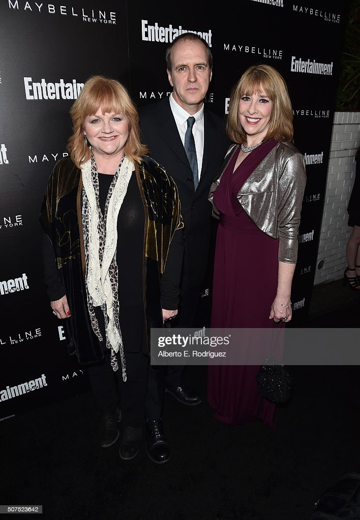 Actors Lesley Nicol, Kevin Doyle, and Phyllis Logan attend Entertainment Weekly's celebration honoring THe Screen Actors Guild presented by Maybeline at Chateau Marmont on January 29, 2016 in Los Angeles, California.