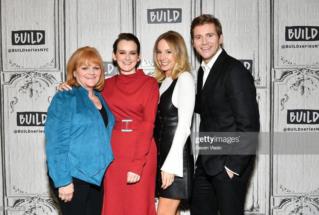 Actors Lesley Nicol, Sophie McShera, Joanne Froggatt and Allen Leech visit Build to discuss 'Downton Abbey: The Exhibition' at Build Studio on November 17, 2017 in New York City.