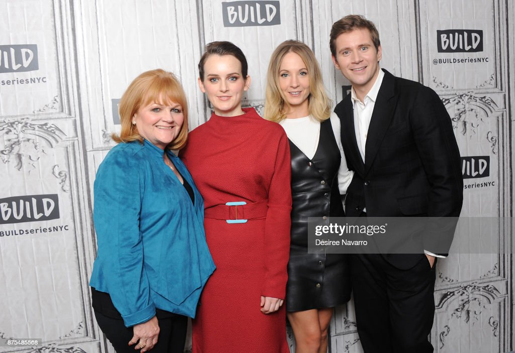 Actors Lesley Nicol, Sophie McShera, Joanne Froggatt and Allen Leech visit Build Series to discuss 'Downton Abbey: The Exhibition' at Build Studio on November 17, 2017 in New York City.