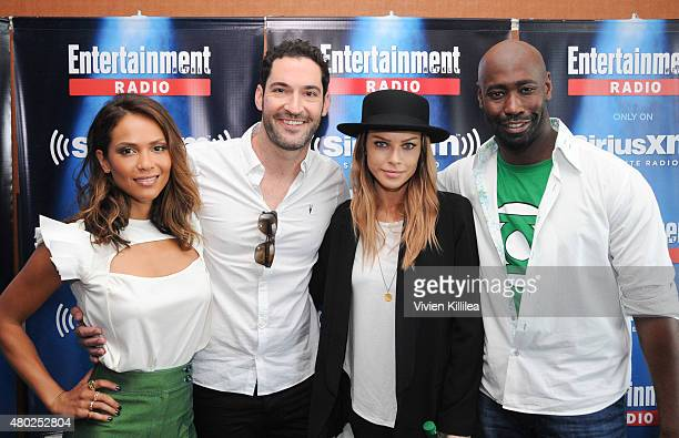 Actors LesleyAnn Brandt Tom Ellis Lauren German and DB Woodside attend SiriusXM's Entertainment Weekly Radio Channel Broadcasts From ComicCon 2015 at...