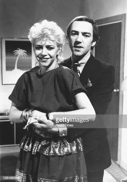 Actors Leslie Ash and Robert Lindsay pictured on the set of episode 'Round Nine' of the television sitcom 'Seconds Out' September 20th 1981