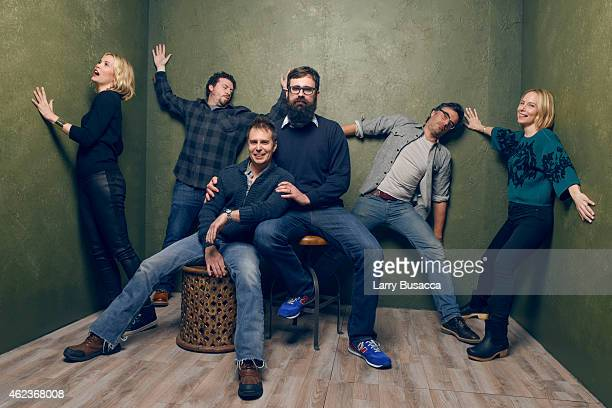 Actors Leslie Bibb Danny McBride Sam Rockwell writer/director Jared Hess actors Jemaine Clement and Amy Ryan of 'Don Verdean' pose for a portrait at...