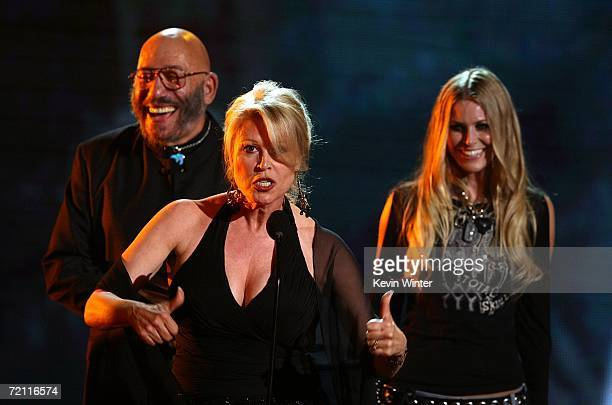 Actors Leslie Easterbrook Sid Haig and Sheri Moon Zombie accept the award for Most Vile Villain onstage during Spike TV's Scream Awards 2006 at the...
