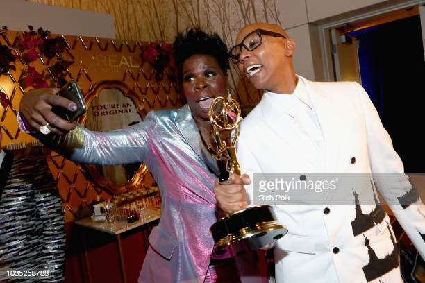Actors Leslie Jones and RuPaul attend IMDb LIVE After The Emmys 2018 on September 17 2018 in Los Angeles California