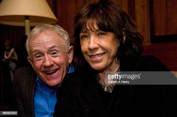 Actors Leslie Jordan and Lilly Tomlin attend the after party for the opening night of My Trip Down The Pink Carpet at Trump Tower on April 19 2010 in...