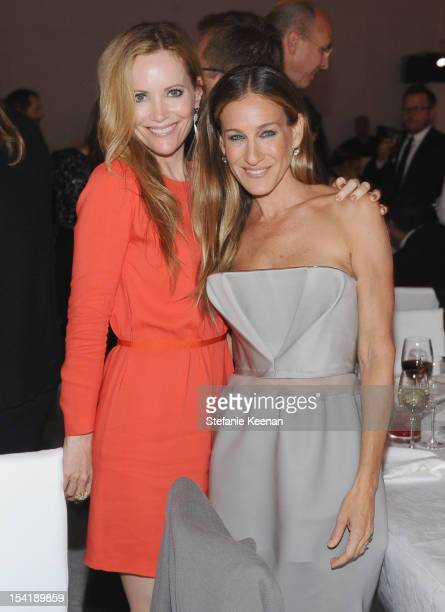 Actors Leslie Mann and Sarah Jessica Parker attend ELLE's 19th Annual Women In Hollywood Celebration at the Four Seasons Hotel on October 15 2012 in...