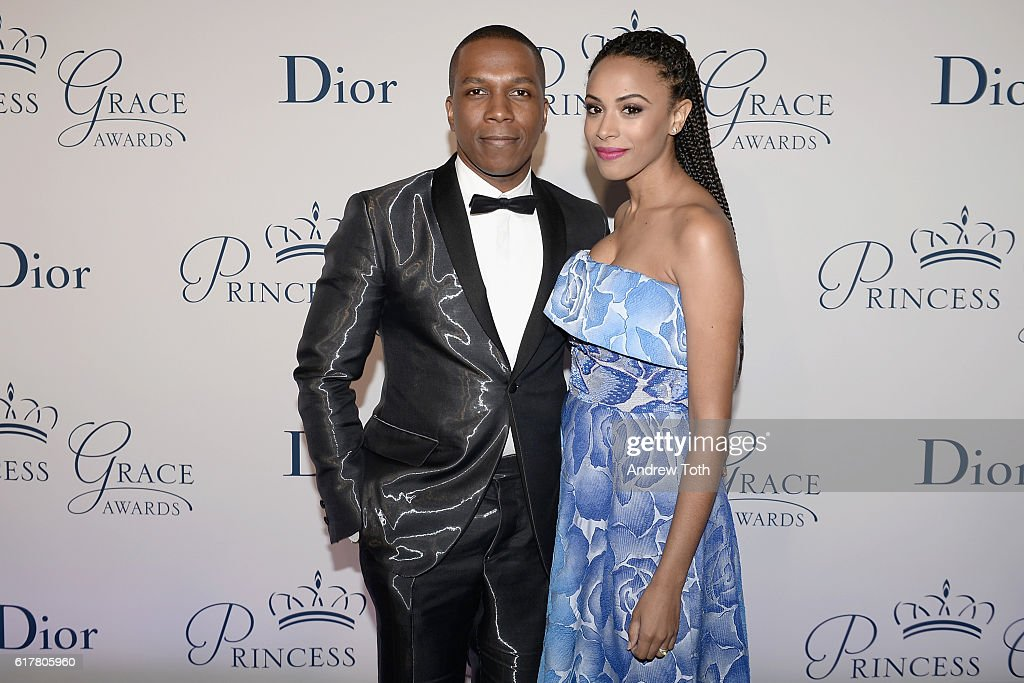 Actors Leslie Odom Jr. (L) and Nicolette Robinson attend the 2016 Princess Grace Awards Gala with presenting sponsor Christian Dior Couture at Cipriani 25 Broadway on October 24, 2016 in New York City.