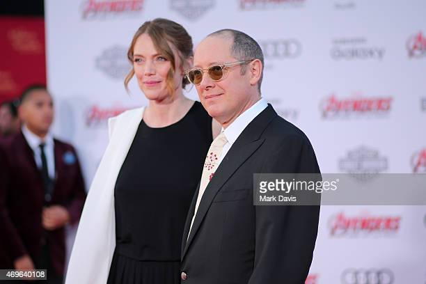 Actors Leslie Stefanson and James Spader attend the premiere of Marvel's Avengers Age Of Ultron at Dolby Theatre on April 13 2015 in Hollywood...