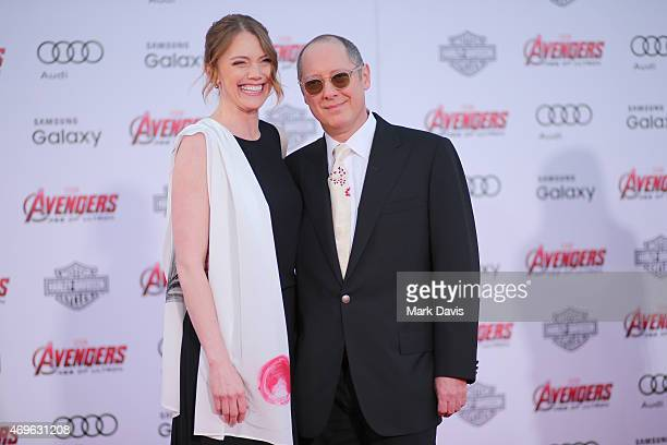 Actors Leslie Stefanson and James Spader attends the premiere of Marvel's Avengers Age Of Ultron at Dolby Theatre on April 13 2015 in Hollywood...