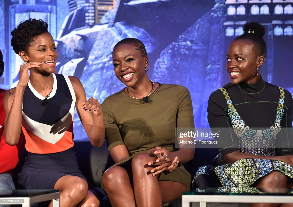 Marvel Studios' BLACK PANTHER Global Junket Press Conference : Fotografía de noticias