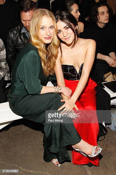 Actors Leven Rambin and Isabelle Fuhrman attend the Christian Siriano Fall 2016 fashion show during New York Fashion Week at ArtBeam on February 13...