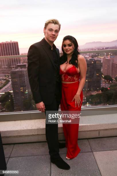 Actors Levi Meaden and Ariel Winter attend the LaPalme Magazine Spring Issue Launch at Vespaio on April 21 2018 in Los Angeles California