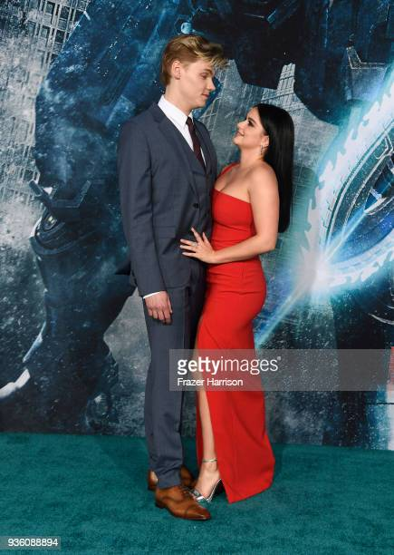 Actors Levi Meaden and Ariel Winter attend Universal's 'Pacific Rim Uprising' Premiere at TCL Chinese Theatre IMAX on March 21 2018 in Hollywood...