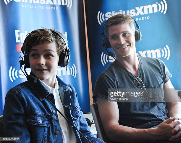 Actors Levi Miller and Garrett Hedlund attend SiriusXM's Entertainment Weekly Radio Channel Broadcasts From ComicCon 2015 at Hard Rock Hotel San...