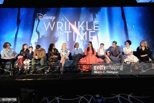 Actors Levi Miller Rowan Blanchard Deric McCabe Zach Galifianakis Mindy Kaling Reese Witherspoon Oprah Winfrey Director Ava DuVernay actors Storm...