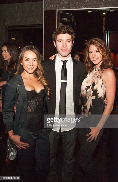 Actors Lexi Ainsworth Kristos Andrews and Brittany Underwood attend LANY Entertainment's 4th Annual Industry Mixer And Cocktail Party at Open Air...