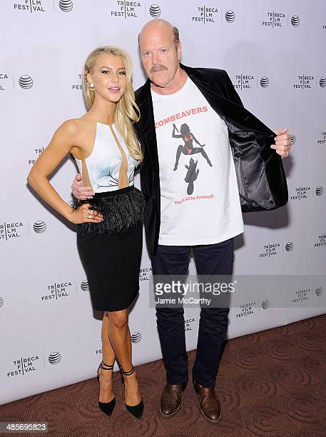 Actors Lexi Atkins and Rex Linn attend the premiere of Zombeavers during the 2014 Tribeca Film Festival at Chelsea Bow Tie Cinemas on April 19 2014...