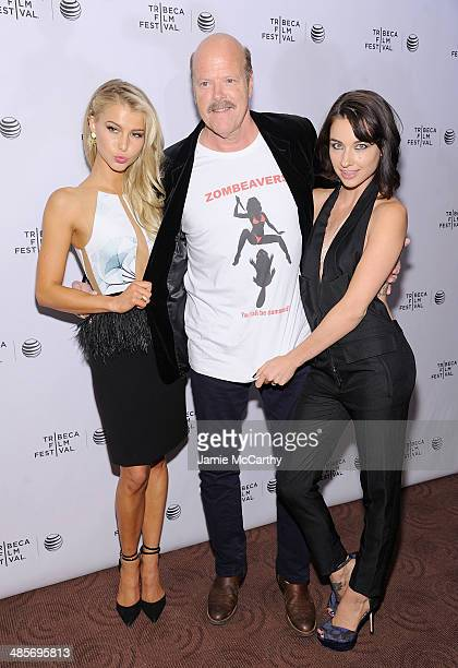 Actors Lexi Atkins Rex Linn and Cortney Palm attend the premiere of Zombeavers during the 2014 Tribeca Film Festival at Chelsea Bow Tie Cinemas on...