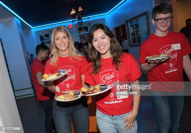 Actors Lexi DiBenedetto and Aidan Miner attend The Salvation Army Feast of Sharing presented by Nickelodeon at Casa Vertigo on November 21 2017 in...