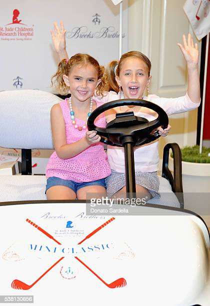 Actors Lexy Kolker and Ava Kolker attend Brooks Brothers Mini Classic to Benefit St Jude Children's Research Hospital at Brooks Brothers Beverly...