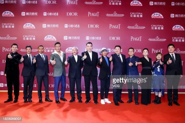 Actors Li Chen, Wu Jing, Zhang Hanyu, Hu Jun, directors Hark Tsui, Chen Kaige, Dante Lam Chiu-Yin, producer Yu Dong, director Huang Jianxin, actress...