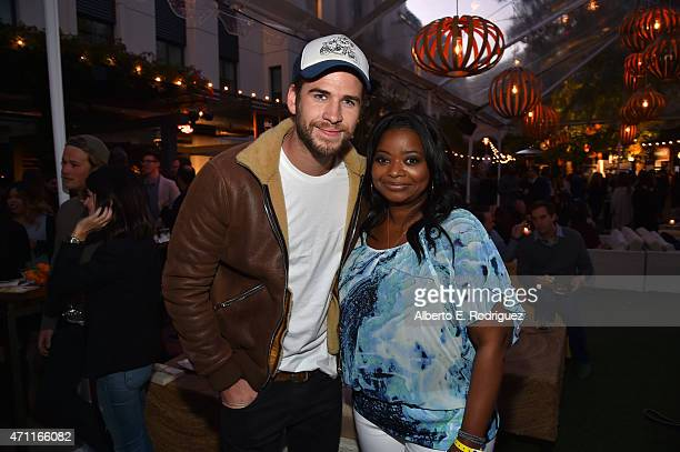 Actors Liam Hemsworth and Octavia Spencer attend City Year Los Angeles Spring Break at Sony Studios on April 25 2015 in Los Angeles California