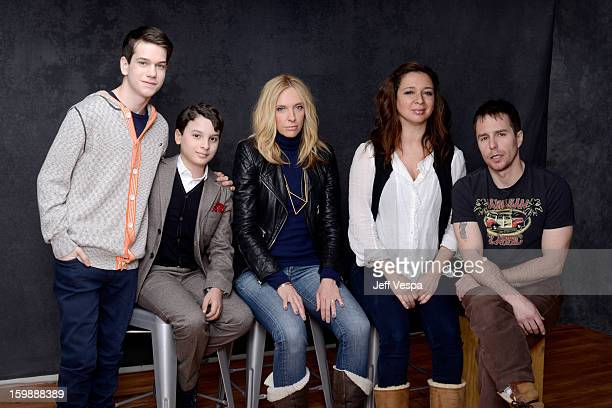 Actors Liam James River Alexander Toni Collette Maya Rudolph and Sam Rockwell pose for a portrait during the 2013 Sundance Film Festival at the...