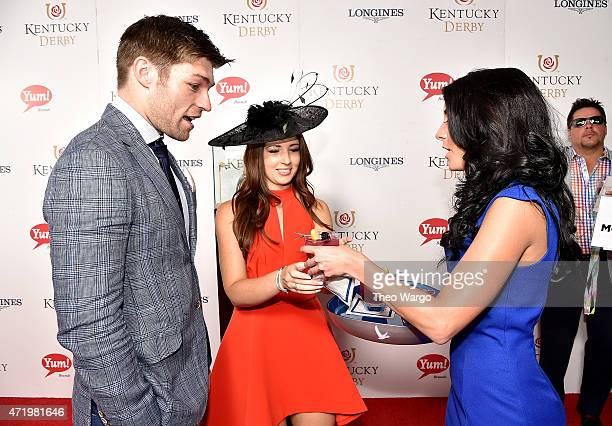 Actors Liam McIntyre and Erin Hasan attend the GREY GOOSE Lounge at the 141st running of The Kentucky Derby at Churchill Downs on May 2 2015 in...