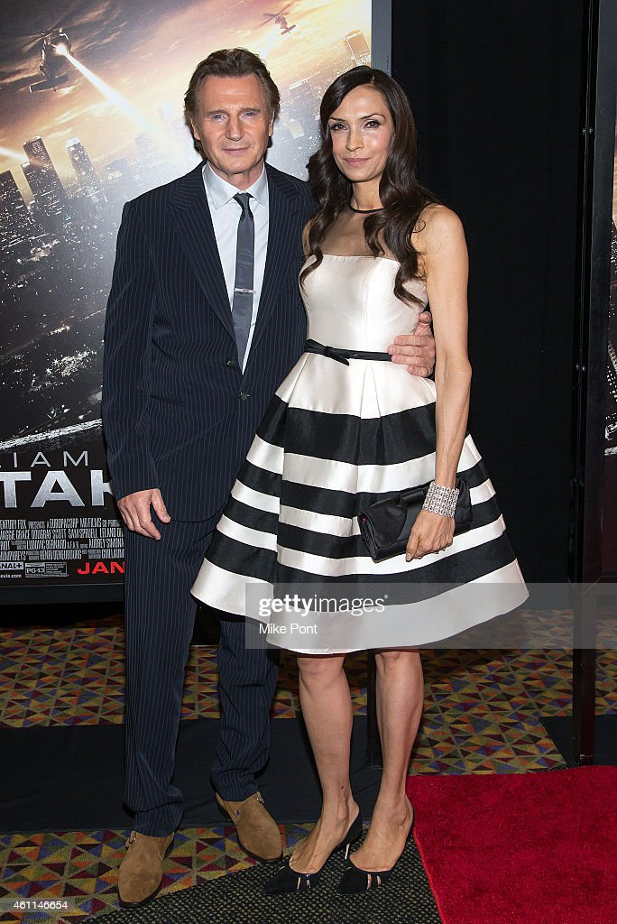 Actors Liam Neeson and Famke Janssen attend the 'Taken 3' Fan Event Screening at the AMC Empire 25 theater on January 7, 2015 in New York City.