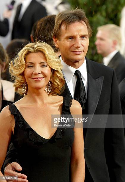 Actors Liam Neeson and wife Natasha Richardson arrive to the 62nd Annual Golden Globe Awards at the Beverly Hilton Hotel January 16 2005 in Beverly...