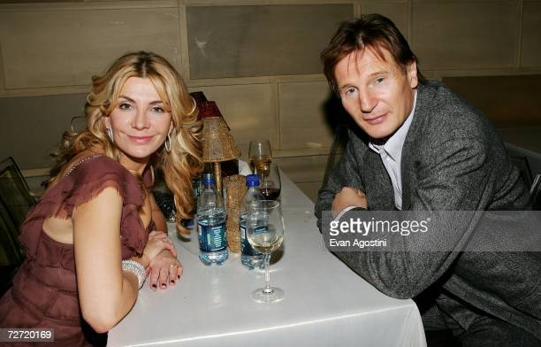 Actors Liam Neeson and wife Natasha Richardson attend the 'Dreamgirls' premiere after party at Gotham Hall December 04 2006 in New York City
