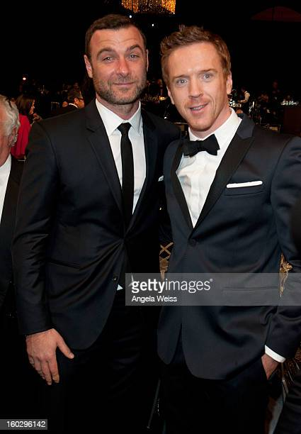 Actors Liev Schreiber and Damian Lewis attend the 19th Annual Screen Actors Guild Awards at The Shrine Auditorium on January 27 2013 in Los Angeles...