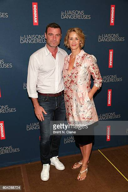 Actors Liev Schreiber and Janet McTeer attend the Les Liaisons Dangereuses cast call at The New 42nd Street Studios on September 13 2016 in New York...