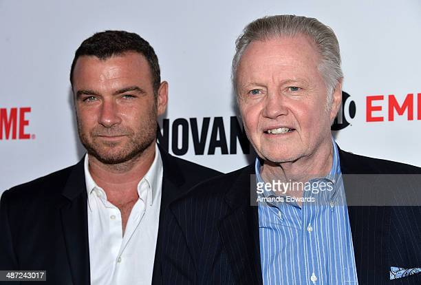 Actors Liev Schreiber and Jon Voight arrive at Showtime's Ray Donovan special screening and panel discussion at the Leonard H Goldenson Theatre on...