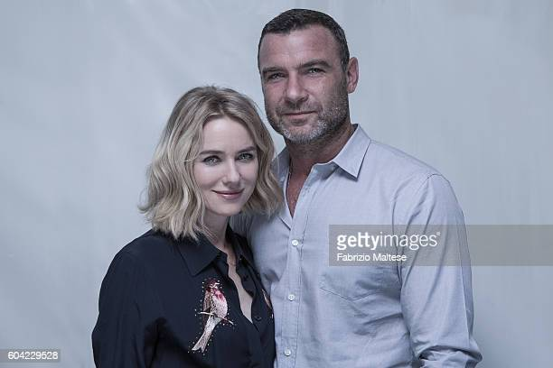 Actors Liev Schreiber and Naomi Watts are photographed for Self Assignment on September 3 2016 in Venice Italy