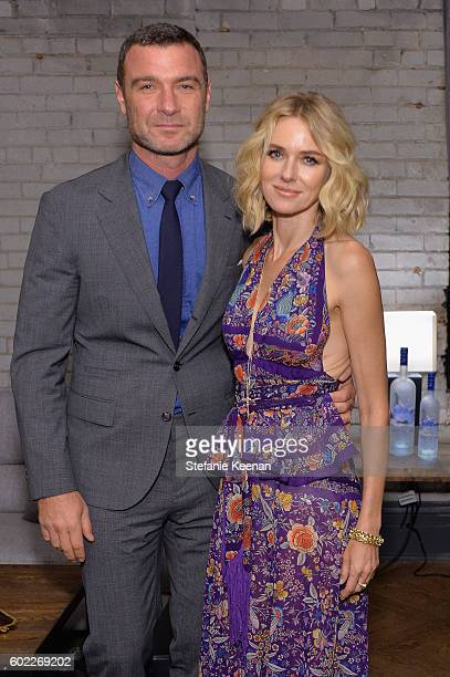 Actors Liev Schreiber and Naomi Watts at The Bleeder TIFF party hosted by GREY GOOSE Vodka at Storys Building on September 10 2016 in Toronto Canada