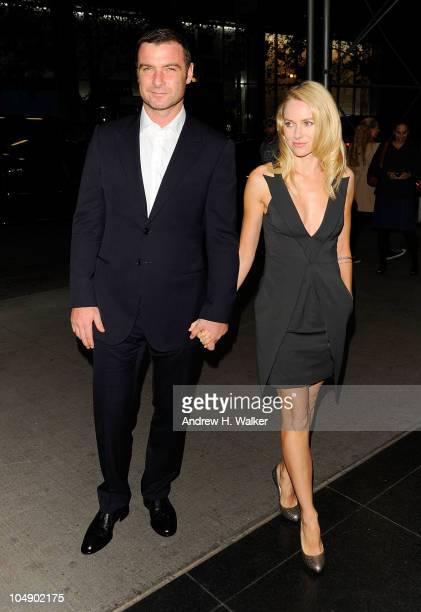 """Actors Liev Schreiber and Naomi Watts attend the screening of """"Fair Game"""" hosted by Giorgio Armani & The Cinema Society at The Museum of Modern Art..."""