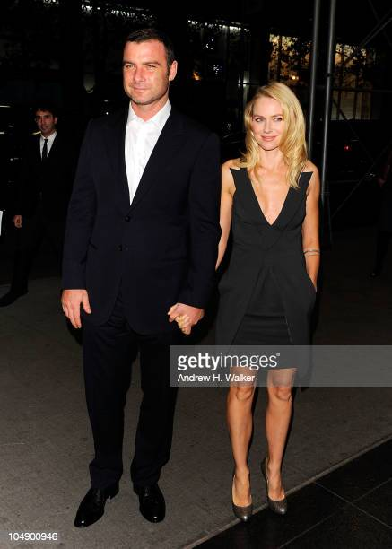 """Actors Liev Schreiber and Naomi Watts attendLiev Schreiber ; the screening of """"Fair Game"""" hosted by Giorgio Armani & The Cinema Society at The Museum..."""