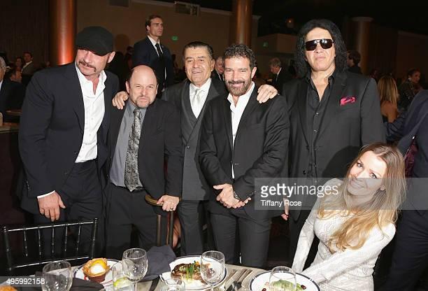 Actors Liev Schreiber Jason Alexander Gala CoChair Haim Saban actor Antonio Banderas musician Gene Simmons and Nicole Kimpel attend Friends Of The...