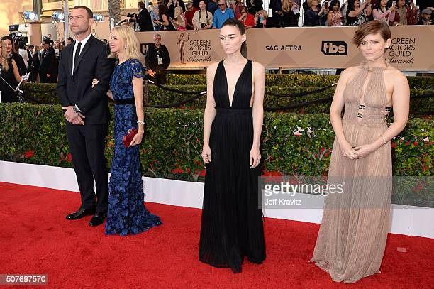 Actors Liev Schreiber Naomi Watts Rooney Mara and Kate Mara attend the 22nd Annual Screen Actors Guild Awards at The Shrine Auditorium on January 30...
