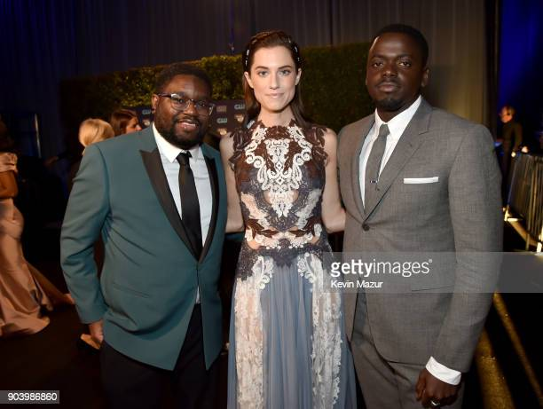 Actors Lil Rel Howery Allison Williams and Daniel Kaluuya attend The 23rd Annual Critics' Choice Awards at Barker Hangar on January 11 2018 in Santa...