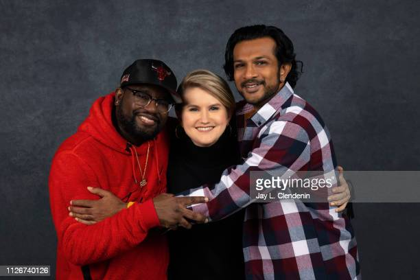 Actors Lil Rel Howery Jillian Bell and Utkarsh Ambudkar from 'Brittany Runs a Marathon' are photographed for Los Angeles Times on January 29 2019 at...