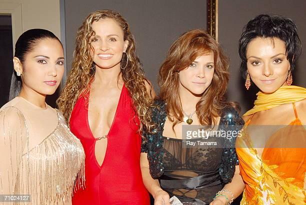 Actors Lilibeth Morillo, Aura Cristina Geithner, Julyie Giliberti, and Ivonne Montero attend Telemundo's Upfront 2006 at Jazz At Lincoln Center on...