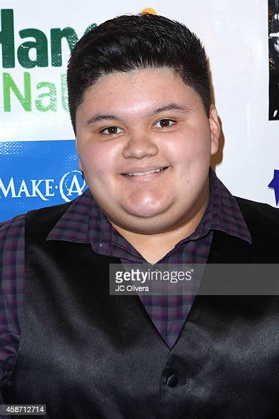 Actors Lilimar Hernandez and Jovan Armand attend MakeAWish Foundation's Star for a night celebrity benefit at The Vortex on November 8 2014 in Los...