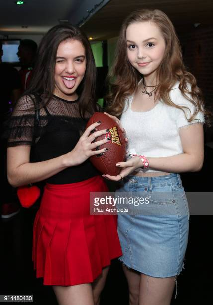 Actors Lilimar Hernandez and Savannah May attend the private Super Bowl/episode viewing party hosted by 'This Is Us' Star Niles Fitch at Candela on...