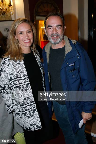 Actors Lilou Fogli and Bruno Solo attend the Ramses II Theater Play at Theatre des Bouffes Parisiens on October 23 2017 in Paris France